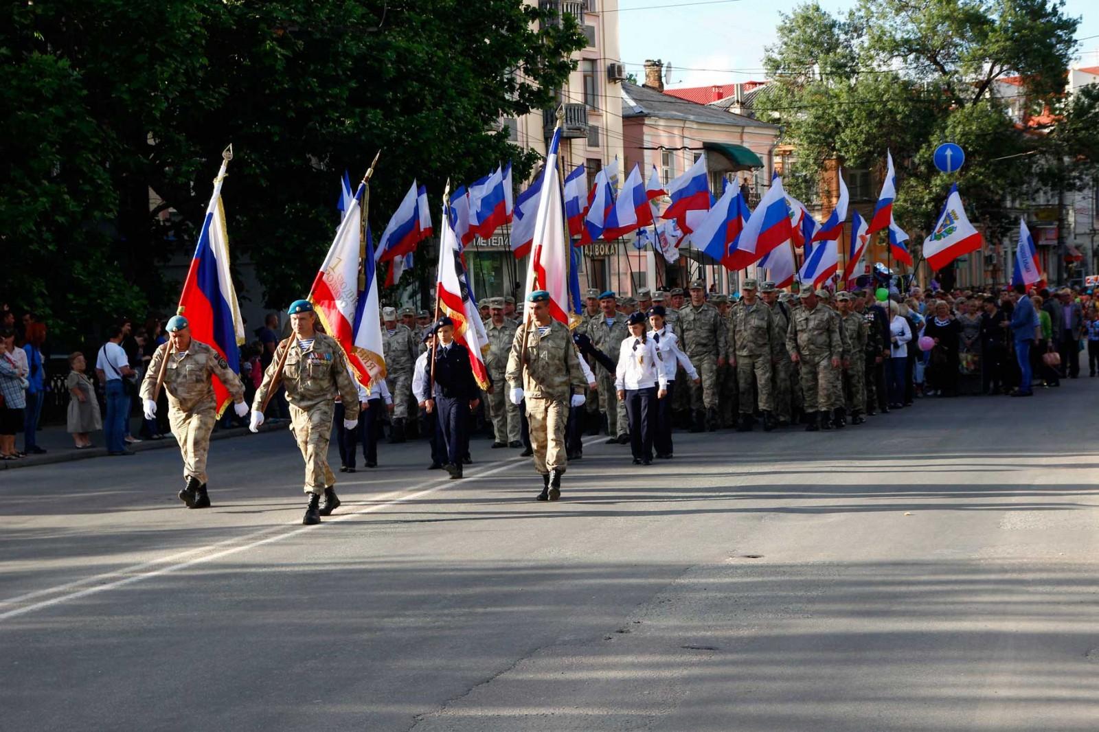 Ополченцы приняли участие в праздновании Дня города Симферополя
