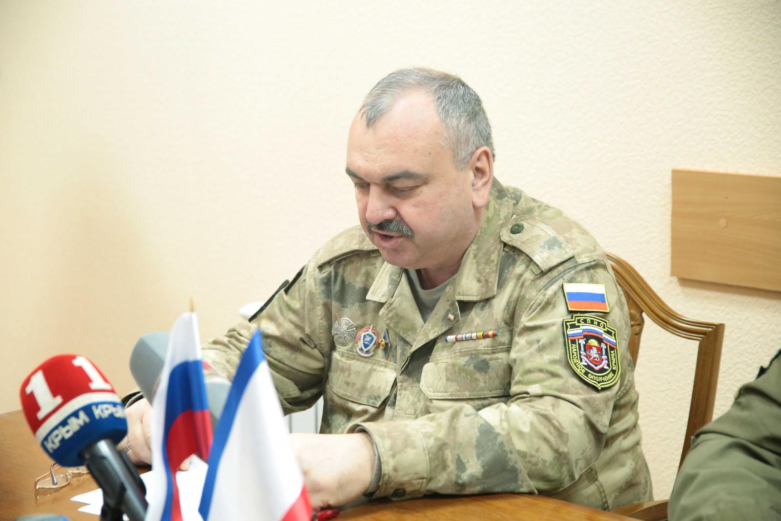 TV FM Совещание по подведению итогов деятельности полка Народного ополчения Республики Крым