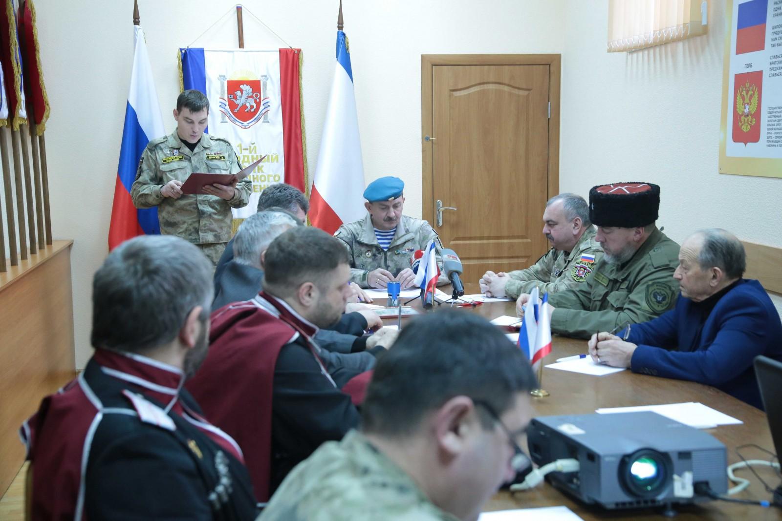 Народное ополчение Республики подписало соглашение о сотрудничестве с шестью общественными организациями Крыма